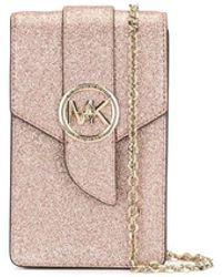 MICHAEL Michael Kors Glitter detail smartphone crossbody bag - Pink
