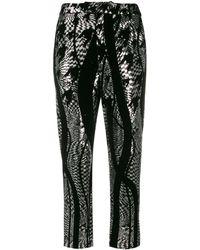 Halpern Tapered Sequin Pants - Black