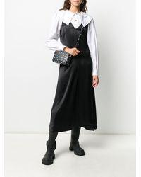 Ganni Платье-комбинация Миди - Черный