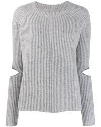 Zoe Jordan - Cut-out Detail Knit Sweater - Lyst