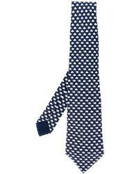Hermès Cravatta anni 2000 con stampa - Blu