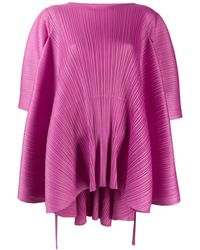 Pleats Please Issey Miyake Deconstructed Pleated Top - Pink