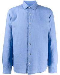 Altea - Crinkled Effect Longsleeved Shirt - Lyst
