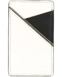 South Lane White Black Cardholder