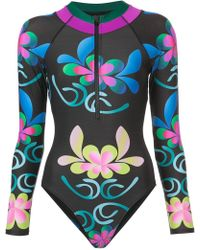 Cynthia Rowley - Floral Surf Suit - Lyst