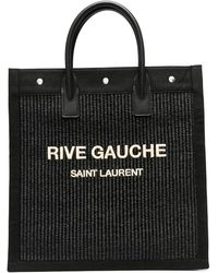 Saint Laurent Плетеная Сумка-тоут Rive Gauche - Черный