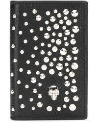 Alexander McQueen Doodskop Organiser Met Studs - Zwart