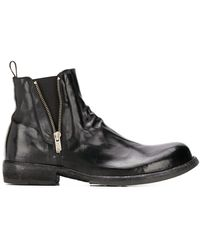 Officine Creative Ikon Zipped Ankle Boots - Black