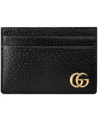 Gucci GG Marmont Leren Geldclip - Zwart