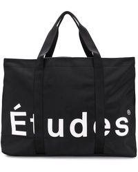 Etudes Studio Logo Oversized Tote - Zwart
