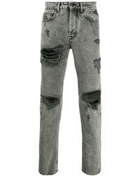 Marcelo Burlon Ripped Jeans - Black