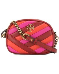 Tory Burch Quilted Cross-body Camera Bag - Red