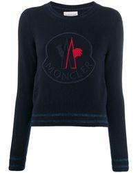 Moncler ロゴ セーター - ブルー