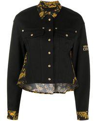 Versace Jeans Couture Джинсовая Куртка С Принтом Barocco - Черный