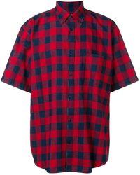 Balenciaga Shirt Met Ruiten - Rood