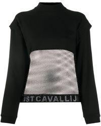 Just Cavalli Толстовка С Контрастным Логотипом - Черный