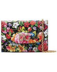 Dolce & Gabbana - Multicoloured Floral Print Leather Mini Bag - Lyst