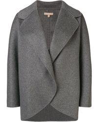 Michael Kors Oversized Short Coat - Gray
