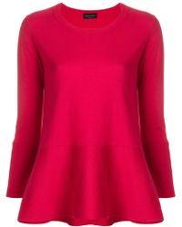 Roberto Collina - Long Sleeved Peplum T-shirt - Lyst