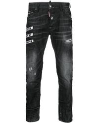 DSquared² - Embroidered Skater Jeans - Lyst