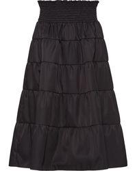 Prada Gabardine Rok - Zwart