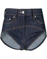 Fenty Super Mini Denim Shorts - Blue