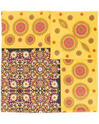 La DoubleJ Printed Scarf - Yellow