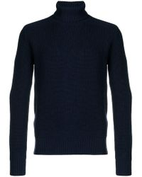 Woolrich - Ribbed Roll Neck Jumper - Lyst