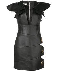 Fausto Puglisi Cut-out Detail Mini Dress - Black