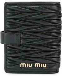 Miu Miu Маленький Стеганый Кошелек - Черный