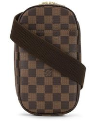 Louis Vuitton 2005 Gange Pochette Damier Handbag - Brown