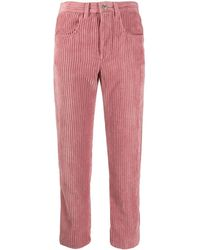 Étoile Isabel Marant Cropped Corduroy Trousers - Pink