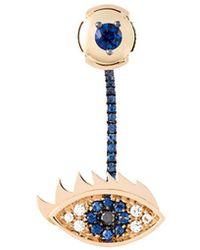 Delfina Delettrez 'eyes On Me Piercing' Diamond And Sapphire Earring - Blauw