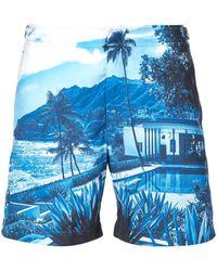 Orlebar Brown Short de bain imprimé - Bleu