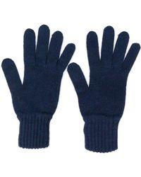 Pringle of Scotland Handschuhe mit gerippten Details - Blau