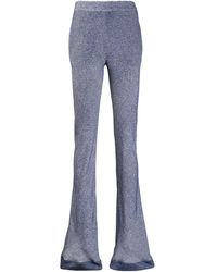 Chloé Patterned Flared Trousers - Blue
