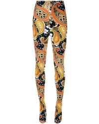 Richard Quinn All-over Print Sock leggings - Orange
