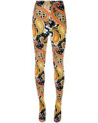 Richard Quinn All-over Print Sock leggings - Orange