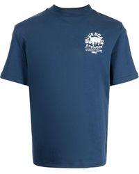 Anglozine M1 North グラフィック Tシャツ - ブルー