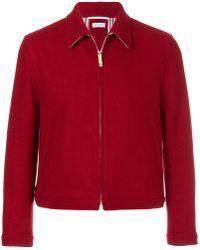 Thom Browne - Button-back Pilot Cloth Melton Golf Jacket - Lyst