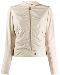 Liu Jo Fitted Leather Jacket - Grey