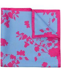Mulberry Платок С Принтом Flora - Синий