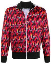 Palm Angels Trainingsjack Met Print - Zwart