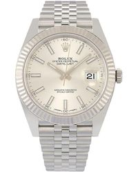 Rolex Наручные Часы Pre-owned Oyster Perpetual Datejust 35 Мм - Металлик