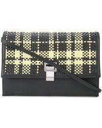 Proenza Schouler Lunch Bag-plaid Woven - Black