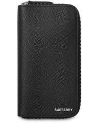 Burberry Фактурный Кошелек С Круговой Молнией - Черный