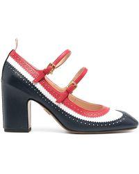 Thom Browne Zapatos de tacón estilo Mary Jane - Rojo