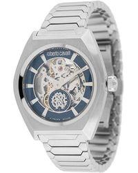 Roberto Cavalli Наручные Часы Skeleton 41 Мм - Металлик