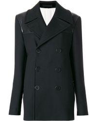 Alexander McQueen Двубортное Пальто - Черный
