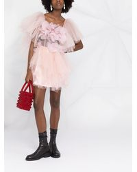 Loulou Tulle Mini Dress - Pink